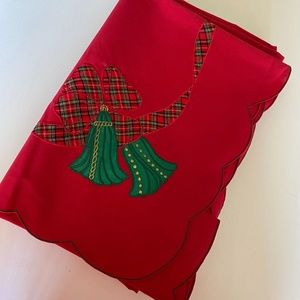 Decorative Christmas Tablecloth by Shantung